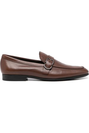 Tod's Buckle-detail square-toe loafers