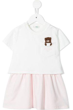 Fendi Baby Casual Dresses - Logo-embroidered panelled midi dress
