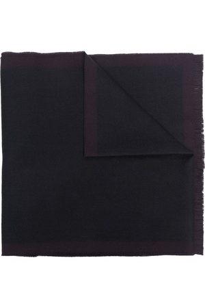 Z Zegna Men Scarves - Contrast-border fringe wool scarf