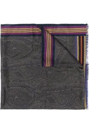 Etro Men Scarves - Paisley-print fine-knit scarf