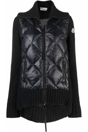 Moncler Women Jackets - Zip-front knitted jacket