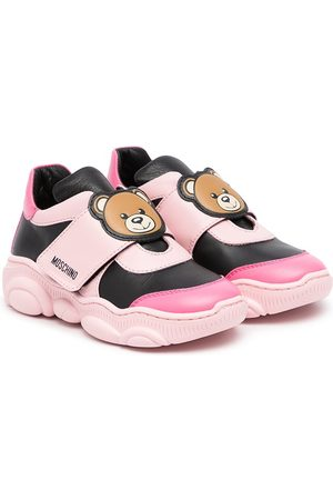 Moschino Logo touch-strap sneakers