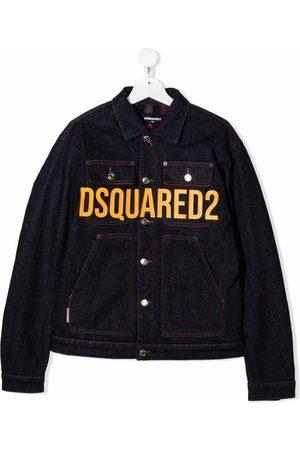 Dsquared2 Bomber Jackets - TEEN logo-print denim jacket