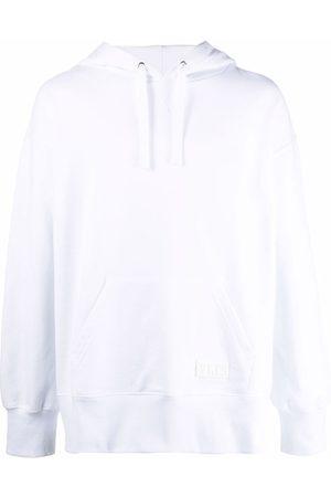 VALENTINO Cotton logo-patch hoodie
