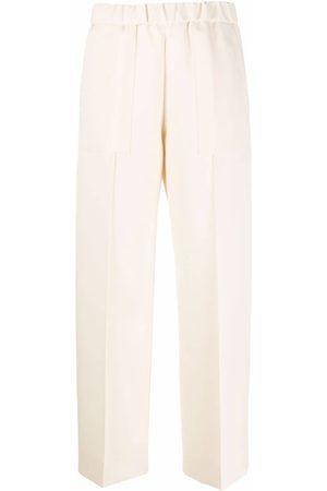 Jil Sander Wide-leg cotton trousers - Neutrals