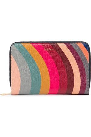 Paul Smith Wave-striped zipped purse - Multicolour