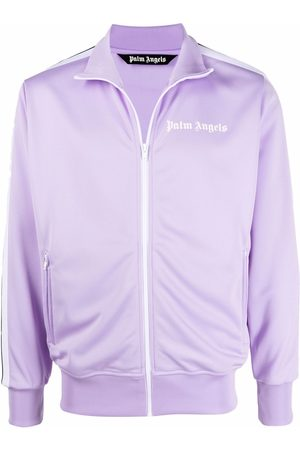 Palm Angels Men Sports Jackets - Side stripe track jacket