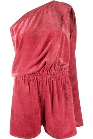Rick Owens Women Playsuits - One-shoulder cutout silk playsuit