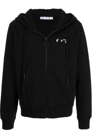 OFF-WHITE Logo-print zip-fastening hoodie