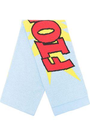 Fiorucci Intarsia logo scarf