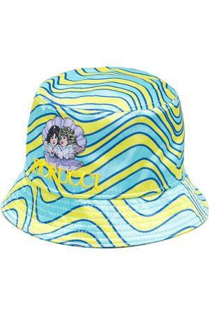 Fiorucci Wave-print bucket hat - Multicolour