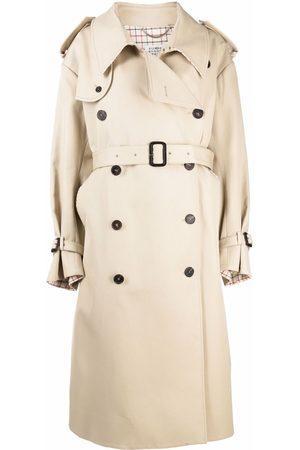 Maison Margiela Women Trench Coats - Oversized trench coat - Neutrals