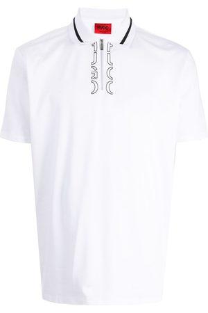 HUGO BOSS Logo-print short-sleeved polo shirt