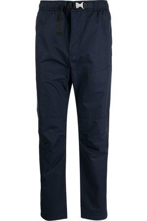 Armani Buckle-fastening slim-cut trousers