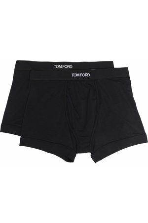 Tom Ford Men Boxer Shorts - Logo-waistband boxer briefs (set of 2)