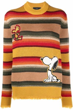 Alanui The Peanuts patch striped jumper