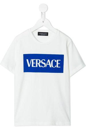 VERSACE Boys Short Sleeve - Logo-print short-sleeve cotton T-shirt