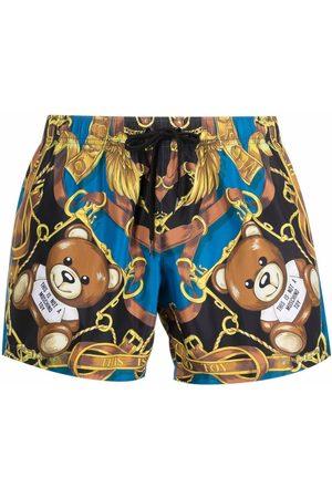 Moschino Teddy bear print swim shorts