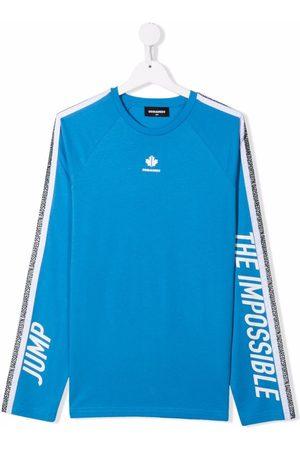 Dsquared2 TEEN logo stripe sweatshirt