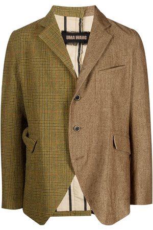 UMA WANG Men Blazers - Contrasting-panel wool blazer