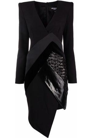 Les Hommes Women Asymmetrical Dresses - Asymmetric contrast-panel dress