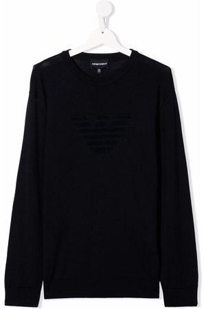 Emporio Armani Sweatshirts - Crewneck cotton-wool jumper