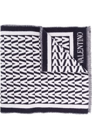 VALENTINO Optical V fringed scarf
