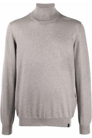 FAY Roll neck wool sweater - Neutrals