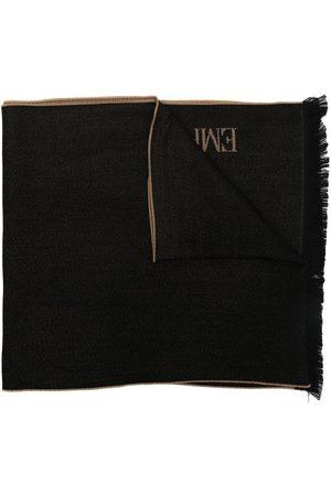 Emporio Armani Men Scarves - Two-tone logo knit scarf