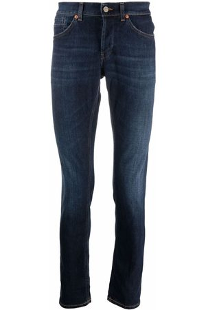 Dondup Men Straight - Dark-wash straight-leg jeans