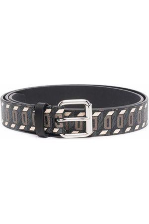 Dsquared2 Geometric pattern-print leather belt