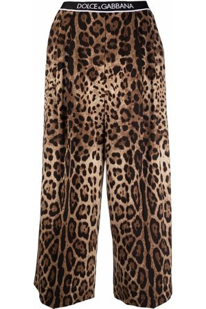 Dolce & Gabbana Leopard-print cropped trousers - Neutrals