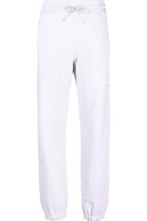 Msgm Logo detail jersey sweatpants - Grey