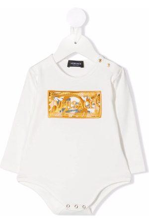 VERSACE Embroidered-logo babygrow