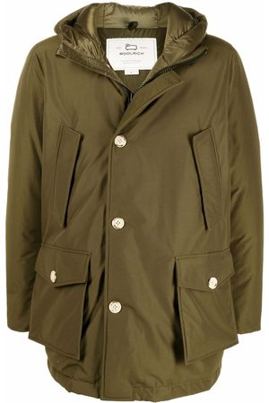 Woolrich Button-up padded hooded coat