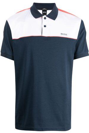 HUGO BOSS Colour-block short-sleeved polo shirt