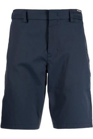 HUGO BOSS Men Bermudas - Logo-print elasticated-waist Bermuda shorts