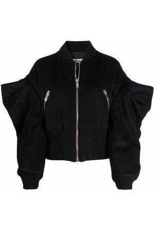 Les Hommes Exaggerated-sleeve bomber jacket