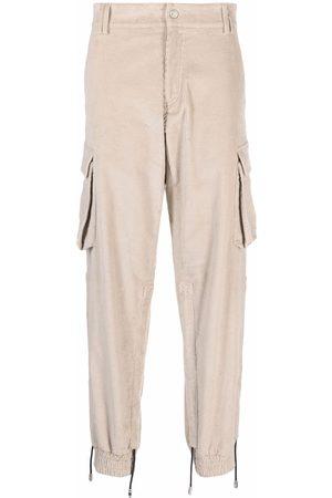 GCDS Corduroy cargo trousers - Neutrals