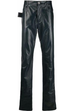 Bottega Veneta Triangle loop leather trousers
