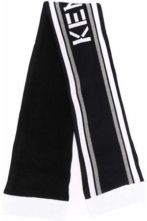 Kenzo Stripe-jacquard knitted scarf