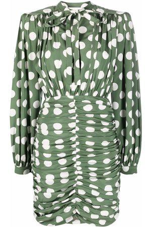 GIUSEPPE DI MORABITO Ruched polka-dot mini dress