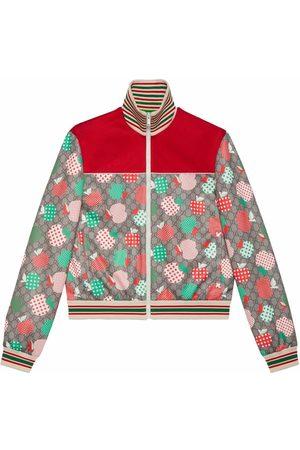Gucci GG apple-print track jacket - Neutrals