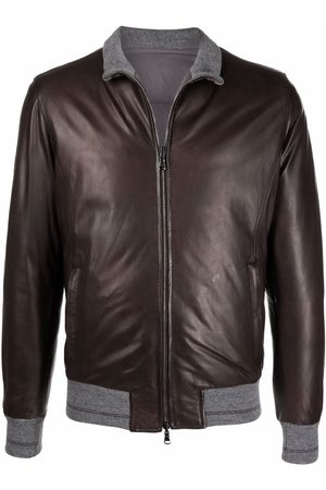 BARBA Leather padded jacket