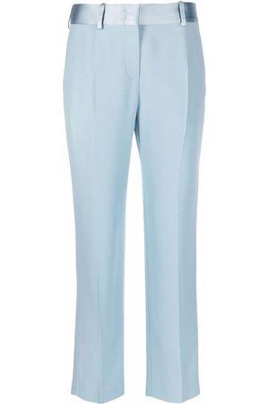 ERMANNO SCERVINO Silk satin-trim trousers