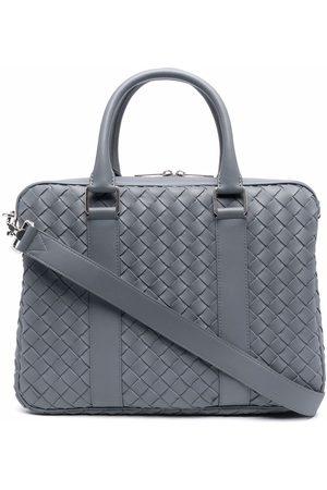 Bottega Veneta Interwoven-design laptop bag - Grey