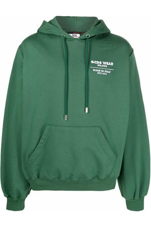 GCDS Men Hoodies - Rear logo patch hoodie