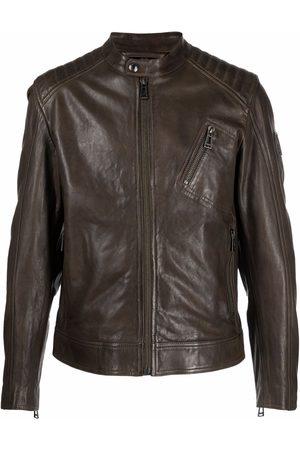 Belstaff Stitch-panel leather jacket