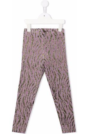 PAADE Metallic zebra-pattern tights