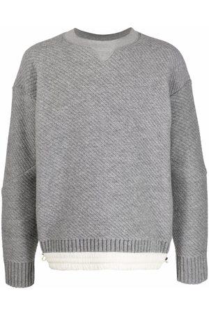 SACAI Contrast-hem knit jumper - Grey